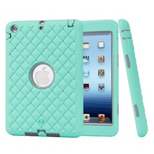 For iPad mini 1/2/3 Retina Case Bling Rhinestone Kids Safe Shockproof Heavy Duty Silicone Hard Case Cover w/Screen Protector+Pen(China)