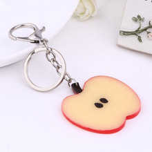 8 Styles! Fresh Fruit Keychain Apple/ Watermelon/ Lemon/ Orange/Pitaya/ Kiwifruit Keyrings Key Holder