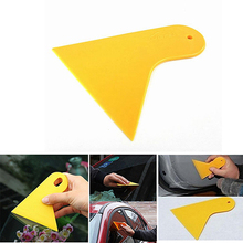 Wiper Plate Glass Car Sticker Scraper Car Squeegee Decal Wrap Applicator Snow/Frost Yellow Plastic Car Window Foils Film Tools