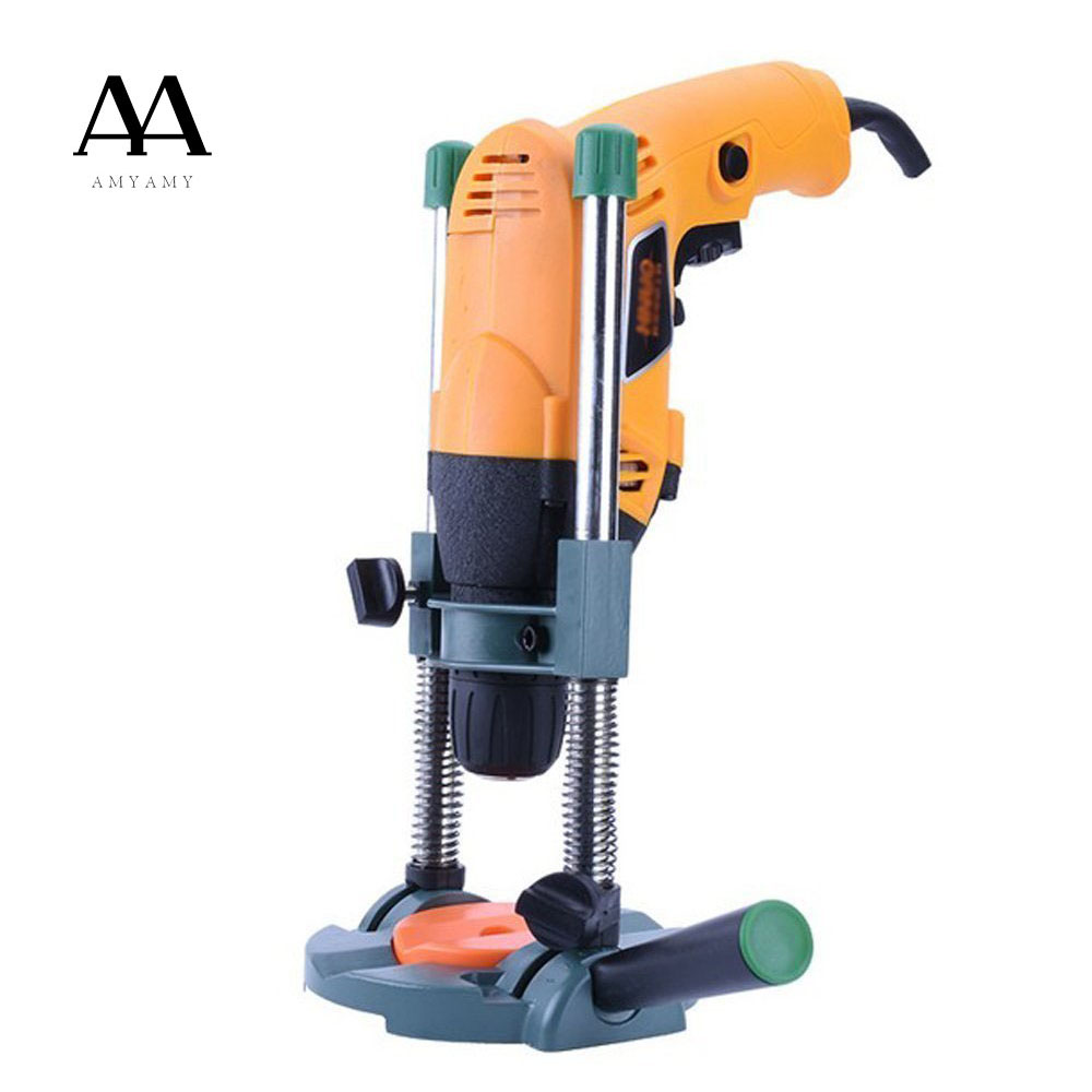 AMYAMY Precision Drill Guide Pipe Drill Holder Stand Drilling Guide with Adjustable Angle and Removeable Handle DIY tool<br>