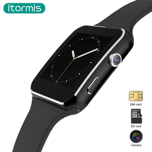 itormis Bluetooth Smart Watches Smartwatch SIM TF card Curved screen Camera Phone Facebook IOS Android W21 PK A1 DZ09 GT08(China)