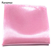 2017 Solid Color Soft Handkerchief Wedding Hanky Hankies Silk Polyester Men's Fashion Business Pocket Square Towel S6297