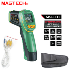 MASTECH MS6531B Handheld Non-contact Infrared Thermometer Point Temperature Gun with K-type  Temperature Measurement