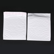 10 Pcs / Pack, 200*250mm Pearl White Usable Space Poly Bubble Mailer Envelopes Padded MailingBag Self Sealing