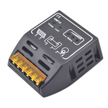 Hot 1PC 12V/24V 10A Solar Panel Adapter Charge Controller Battery Regulator Short circuit Over-load protection(China)