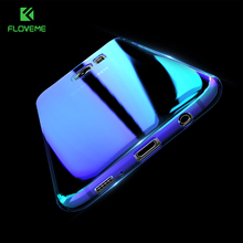 FLOVEME Luxury Blue Light Ray Case For Samsung S6 S8 S7 Edge Ultra Thin Cool Aurora Hard Cover For Samsung S7 S8 S6 Edge Capa