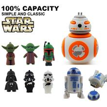 usb flash drive 64g star wars pen drive 32g pendrive 16g R2D2 Darth Vinda 8g 4g bb8 Usb2.0 memory stick drive bb-8