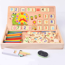 Wooden Multifunctional Montessori digital educational for children puzzles Math Toys Wooden Black Board Drawing Toys kids Bab