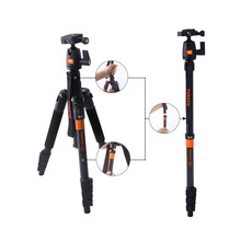 FOSOTO F-555 Travel Tripode Monopod Touism Video Tripod with Ball Head for Canon Nikon Sony Panasonic Olympus Fuji DSLR Cameras