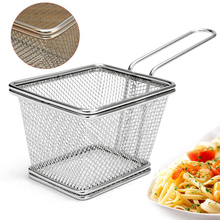 Stainless Steel Square Deep Fryers Basket Net Mesh Fries Chips For Kitchen Tool