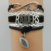 Buy Infinity Love Raiders bracelet sport gift Football team Charm bracelet & bangles women men jewelry Drop for $1.27 in AliExpress store