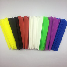"100Pcs ONTTIHS 3"" Water Drop Plastic Vanes Fletchings Archery Arrow Accessories Fletches Arrow Vanes Feather B2(China)"