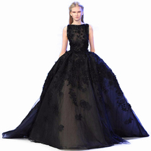 elegant fashion evening dress 2017 backless appliques lace ball gown women pagenat gown for formal prom party vestido de