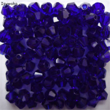 Isywaka Sale Deep Blue 200PCS 4mm Bicone Austria Crystal Beads charm Glass Beads Loose Spacer Bead for DIY Jewelry Making