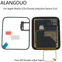 ALANGDUO Original LCD For Apple Watch Series 1 38/42 LCD Display Touch Screen Digitizer Assembly + Gravity Inductive Sensor Coil