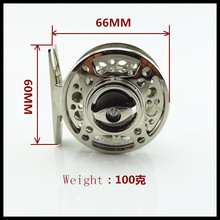 Free Shipping Die Casting Technology Fly Fishing Reel 60#  2+1BB  1:1  Fly Fishing Reel Fishing Tackle Raft reel Ice  reel