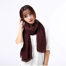 Scarf for Women Cheap Solid Ponchos and Capes White Turquoise Purple Coffee Ginger Wine Red Pink Cotton Blending Warm Winter