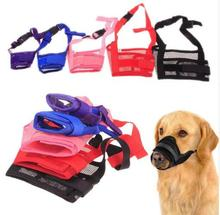 Hot Pet Dog Adjustable Mask Bark Bite Mesh Mouth Muzzle Grooming Anti Stop Chewing 8 Color Wholesales