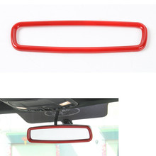 YAQUICKA Auto Car Interior Rearview Mirror Frame Trim Cover Car-styling Fit For Ford F150 2015 2016 2017 Accessories 3 Colors