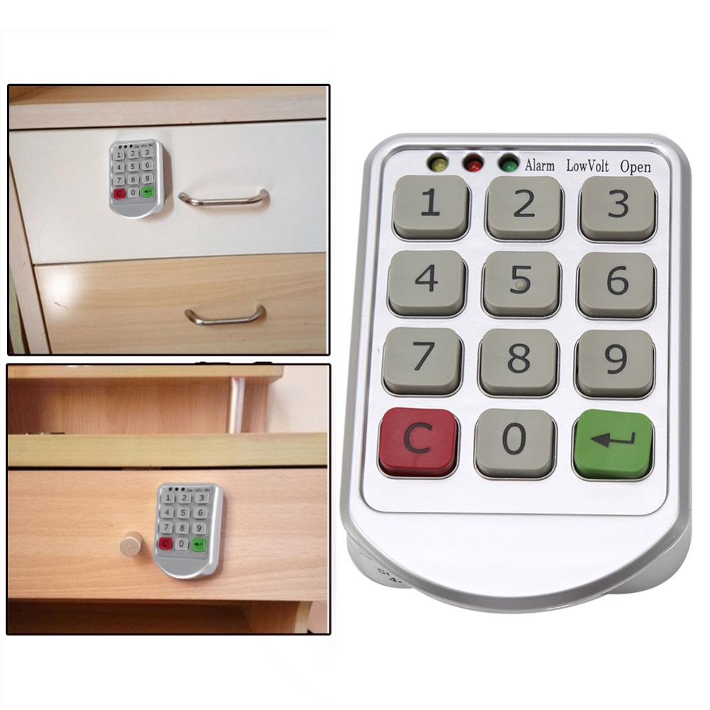 Professional Electronic Digital Combination Lock Password Keypad Number Cabinet Door Code Locks For Cabinet Door Drawer Durable(China (Mainland))