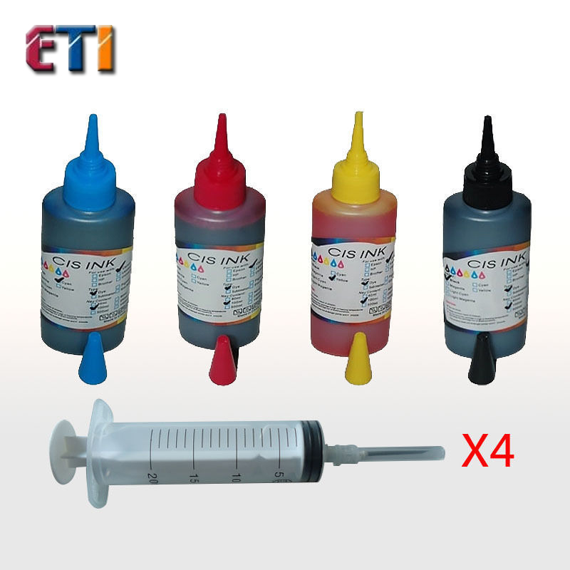 4PK 100ML Refill Ink Kit for Canon PG245 CL246  PG-245 CL-246    PIXMA iP2820 MG2420 MG2520 MG2920 MG2922 MG2924 MX492<br><br>Aliexpress