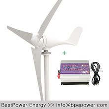 Hot Sale!! Grid Tie Wind Power System, Wind Turbine Kits(500W Grid Tie Wind Inverter + 300W Wind Generator Turbine)(China)