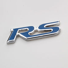 1pcs Blue Metal RS Car Stickers Emblem Badge styling RS Gear Shift Knob Decorative Cover Trim for Ford focus edge f-150 fiesta