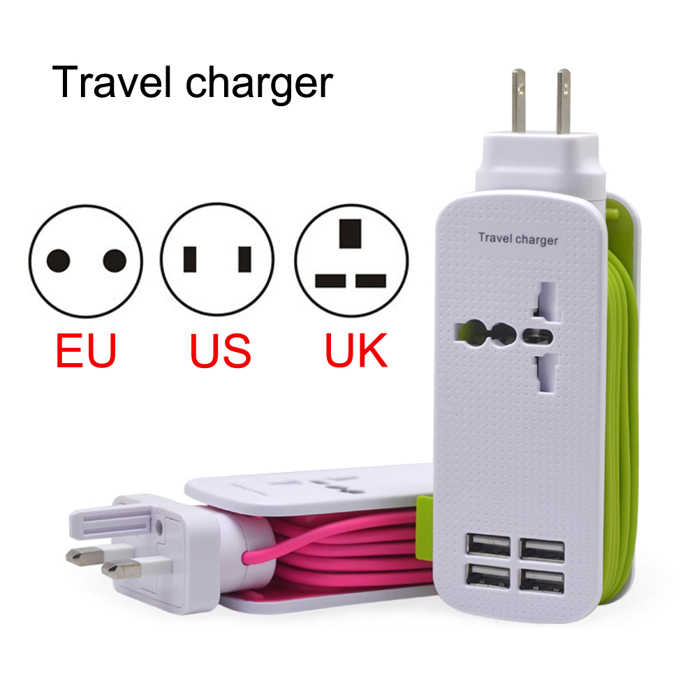 2017 YCDC Universal 4 USB Charger Hub Wall Station Travel Adapter For Desktop iPhone 7 6 6plus Samsung US EU UK Plug<br><br>Aliexpress