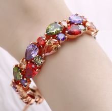 Bracelet 3A colorful rainbow tear drops zircon bracelets female commuter anniversary celebration, wedding birthday Best gift