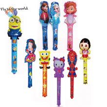 Hot Free Shipping 100pcs/lot mix order Average Size 80x20CM Cheering Stick Balloon clapper Balloon children party decor toys
