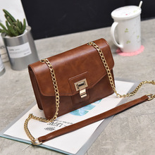 To buy 2017 new his parcel chain bag outermost layer of skin lock han edition one shoulder bag female small BaoChao female bag