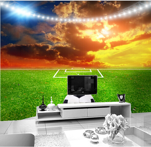 Custom photo wallpaper, football on the lawn for the living room bedroom TV background wall waterproof wallpaper<br>