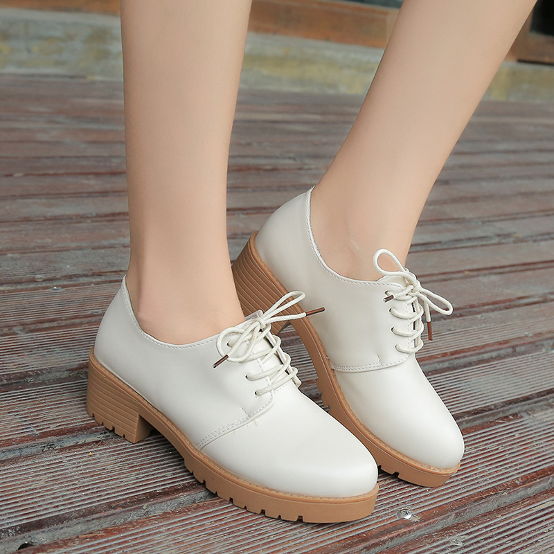 Botas femininas women cute pu leather ankle martin boots lady casual retro lace up short boot female leisure spring shoes zapato<br><br>Aliexpress