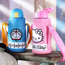 600ml Christmas Gifts Hello Kitty Thermos Cup Travel Mug Insulated Cups My Bottle Coffee Mug Drinkware for Kids Water Bottles