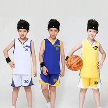 Hot Baby Kids Basketball jersey Boys girls Active Blank Jersey Clothes Children's Sports Suit Vest+pants sets Custom made