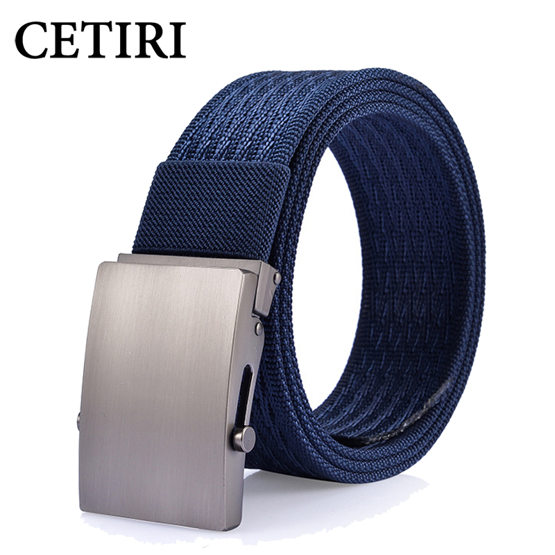 CETIRI Military Tactical Belt Canvas Nylon Metal Automatic Buckle Belt Strap Designer Mens Belts Luxury Waist Belt
