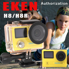 EKEN H8R / H8 Ultra HD 4K WIFI Action Camera 1080p/60fps 720P/120FPS VR360 Mini Cam Waterproof Helmet Sport DVR + Option Monopod