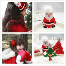 Classic children's headdress Christmas Santa Claus, Christmas tree Christmas hat hair clips Girl's hair Quality assurance(China)