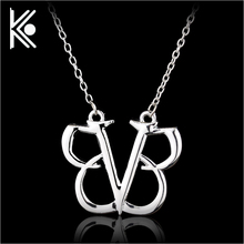 Black Veil Brides Pendant 2017 New Fashion Rock Band Men Statement Necklace BVB Logo Punk Gothic Music Colar Masculino Jewelry