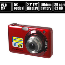 "15.0MP mega pixls Optical zoom digital camera with 2.7"" LCD Screen 5X optical zoom Face Detection Video function"