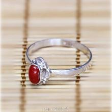T9157 Nepal Handmade 925 Sterling Silver Inlaid Red Coral Lovely Lady Rings Nepal vintage Girls jewelry Best offer