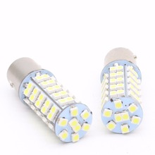 2x 1157 BA15YD 1156 BA15S White Amber Red Auto LED 68 SMD Car Signal Reverse Led Lights Turn Parking 12v