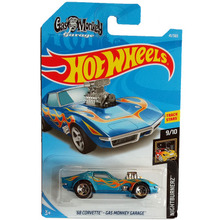 New Arrivals 2018 8b Hot Wheels 1:64 blue 68 CORVETTE-GAS MONKEY GARAGE Car Models Collection Kids Toys Vehicle For Children(China)