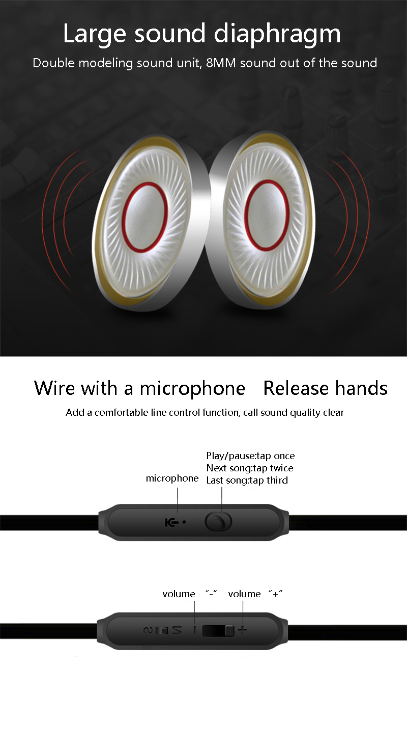 YPZ K6 Ultra-clear bass earphone metal ear-style soundproof earplugs game sports ear noodles earplugs with wheat headphones