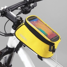 "Touch Screen Bicycle Bag For 4.2"" 4.8"" 5.5"" Mobile Phone Case Cycling MTB Road Bike Front Top Frame Crossbar Tube Bag"
