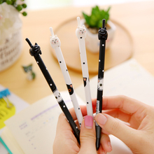 4 pcs/lot Kawaii Cartoon 3D Cat Black ink Gel Pen Stationery Lovely Pens Students Gifts For School office Supplies