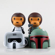 Star Wars Cosplay Stormtrooper Helmet Cosplay Boba Fett Monkey Cosplay PVC Action Figure Collectible Model Toy