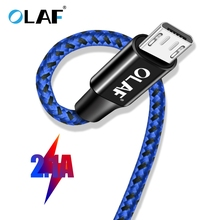 OLAF Micro USB Cable Samsung Xiaomi Huawei Nylon 2.1A Fast Charging Cable USB Data Sync Cabo Android Micro usb Charger Cord