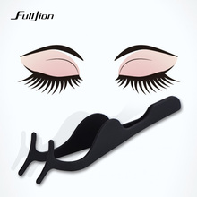 Fulljion Beauty Tools False Eyelashes Stainless Steel Eyelashes Curler Tweezers Clip Eyelash Extensions Makeup Accessories tools(China)