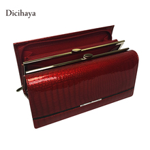 DICIHAYA Genuine Leather Women Wallet Multifunction Womens Wallets And Purses Carteira Portefeuille Femme Billetera Card Holder(China)